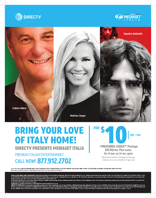 Italian TV Package Naples, FL from Direct TV.  www.floridaitalian.com Mondo Italiano Magazine