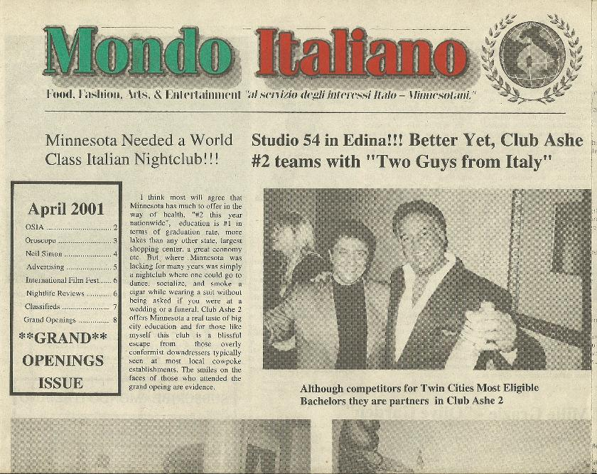 Mondo Italiano April 2001 - Italian Nightclubs Edition