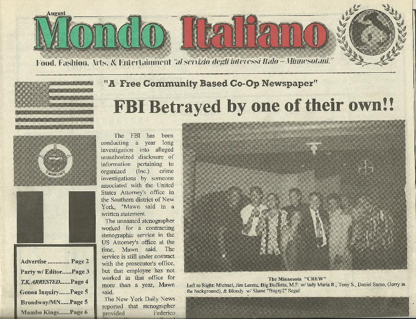 Mondo Italiano August 2001 - Two Guys from Italy and Club Ashe 2 with Daniel Sarno and Shane Segal + The Minnesota Crew